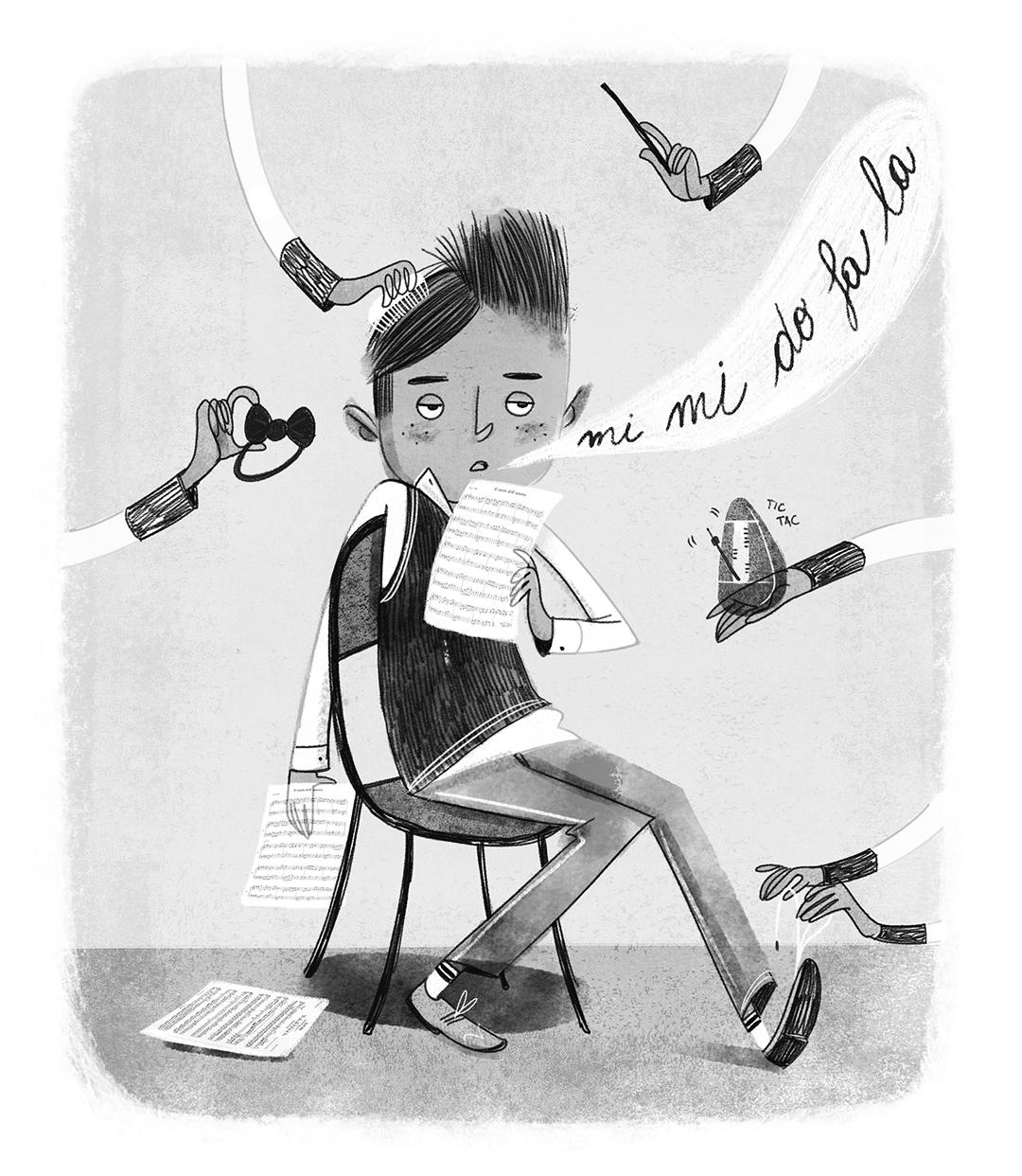 Colorista per una pagina di scolastica per Rizzoli.